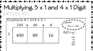 Area Model Multiplication: 4-Day Bundle