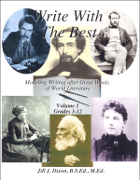 Write with the Best: Modeling Writing after Great Works of World Literature