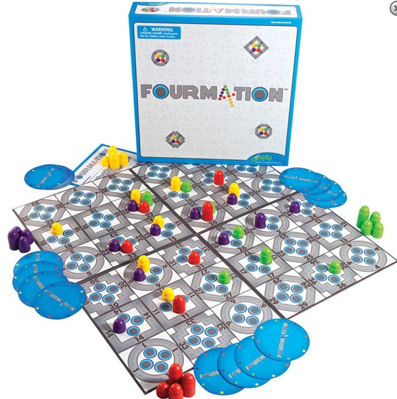 Fourmation math and strategy game