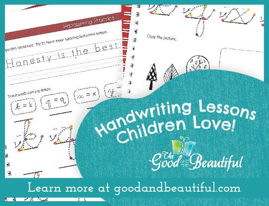 the good and the beautiful handwriting curriculum