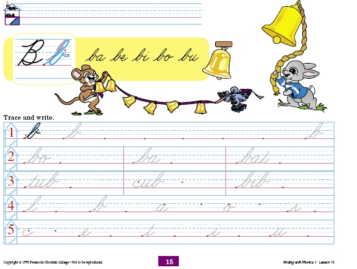 a beka book u0026 39 s handwriting program
