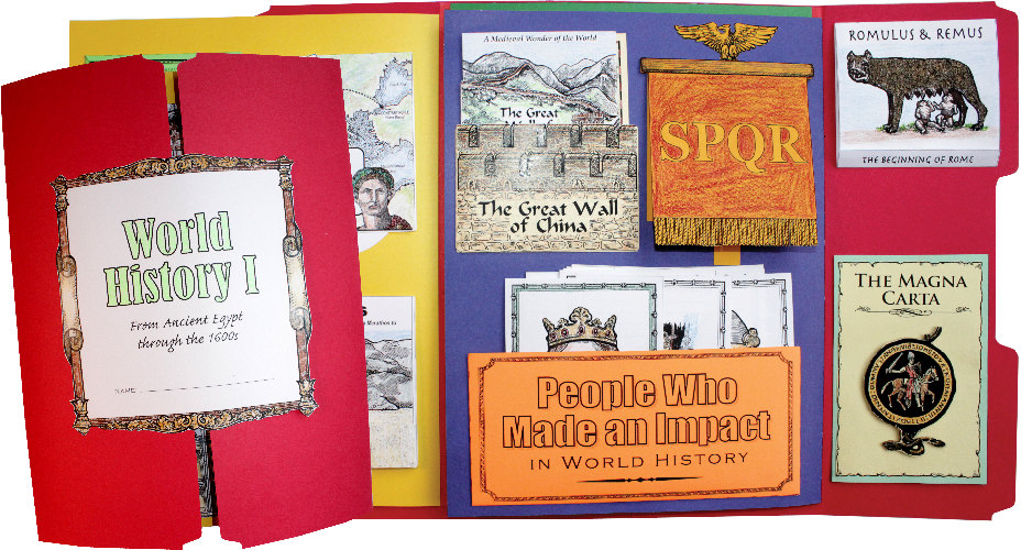 World History I and II Lap Book Kits